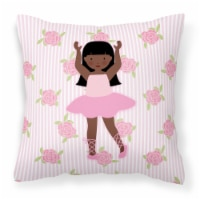 Ballerina African American Long Hair Fabric Decorative Pillow