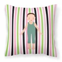 Dancer Bikatard Flex Hands Fabric Decorative Pillow