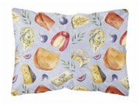 Assortment of Cheeses Canvas Fabric Decorative Pillow - 12Hx16W