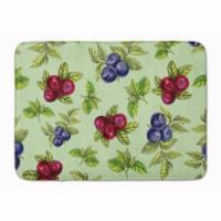 """Carolines Treasures  BB5208RUG Berries in Green Machine Washable Memory Foam Mat - 19 X 27"""""""