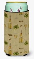 White Wine on Linen Tall Boy Beverage Insulator Hugger