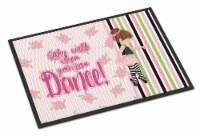 Ballet Dance Stripes Brunette Indoor or Outdoor Mat 24x36