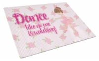 Carolines Treasures  BB5390LCB Ballet Dance Brunette Glass Cutting Board Large - 12Hx15W