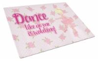 Carolines Treasures  BB5391LCB Ballet Dance Blonde Glass Cutting Board Large - 12Hx15W