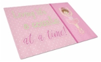 Ballet in 8 Counts Brunette Glass Cutting Board Large