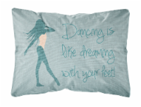 Dancing is Like Dreaming #2 Canvas Fabric Decorative Pillow