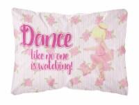 Ballet Dance Blonde Canvas Fabric Decorative Pillow