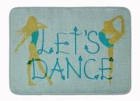 Let's Dance Linen Teal Machine Washable Memory Foam Mat