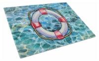 Carolines Treasures  BB5344LCB Life Saver Glass Cutting Board Large - 12Hx15W
