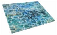 Carolines Treasures  BB5359LCB Shrimp Under water Glass Cutting Board Large - 12Hx15W
