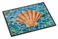Scallop Shell and Water Indoor or Outdoor Mat 18x27