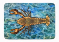 "Carolines Treasures  BB5351RUG Lobster Machine Washable Memory Foam Mat - 19 X 27"""
