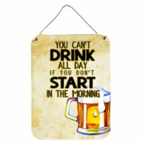 Start Drinking in the Morning Beer Wall or Door Hanging Prints