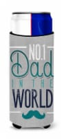 No 1 Dad in the World Michelob Ultra Hugger for slim cans - Slim Can
