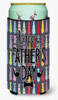Happy Father's Day Neckties Bright Tall Boy Beverage Insulator Hugger - Tall Boy