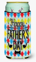 Happy Father's Day Argyle Tall Boy Beverage Insulator Hugger