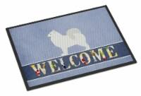 Carolines Treasures  BB5563JMAT Samoyed Welcome Indoor or Outdoor Mat 24x36