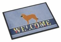 Belgian Shepherd Welcome Indoor or Outdoor Mat 24x36 - 24Hx36W
