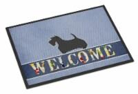 Scottish Terrier Welcome Indoor or Outdoor Mat 24x36