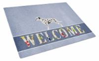 Carolines Treasures  BB5487LCB Dalmatian Welcome Glass Cutting Board Large - 12Hx15W