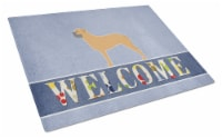 Ralphs Carolines Treasures Bb5575lcb Bullmastiff Welcome Glass Cutting Board Large 12hx15w