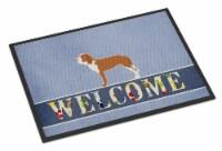 Carolines Treasures  BB5495MAT Spanish Hound Welcome Indoor or Outdoor Mat 18x27