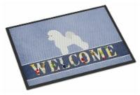 Carolines Treasures  BB5549MAT Bichon Frise Welcome Indoor or Outdoor Mat 18x27 - 18Hx27W