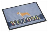Staffordshire Bull Terrier Welcome Indoor or Outdoor Mat 18x27 - 18Hx27W