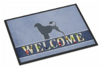 Portuguese Water Dog Welcome Indoor or Outdoor Mat 18x27
