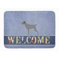 """German Wirehaired Pointer Welcome Machine Washable Memory Foam Mat - 19 X 27"""""""