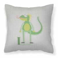 Carolines Treasures  BB5734PW1414 Alphabet I for Iguana Fabric Decorative Pillow