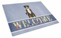 Appenzeller Sennenhund Welcome Glass Cutting Board Large - 12Hx15W
