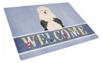 Old English Sheepdog Welcome Glass Cutting Board Large - 12Hx15W