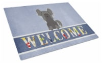 Chinese Crested Black Welcome Glass Cutting Board Large - 12Hx15W