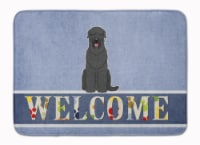 Black Russian Terrier Welcome Machine Washable Memory Foam Mat