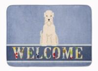 Soft Coated Wheaten Terrier Welcome Machine Washable Memory Foam Mat