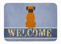 Fawn Boxer Welcome Machine Washable Memory Foam Mat