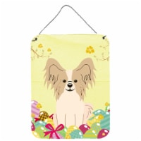 Easter Eggs Papillon Sable White Wall or Door Hanging Prints - 16HX12W