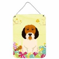 Easter Eggs Petit Basset Griffon Veenden Wall or Door Hanging Prints - 16HX12W