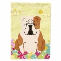 Easter Eggs English Bulldog Fawn White Flag Garden Size - Garden Size