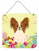 Easter Eggs Papillon Red White Wall or Door Hanging Prints - 6HX6W