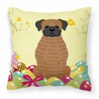 Easter Eggs Brindle Boxer Fabric Decorative Pillow - 14Hx14W