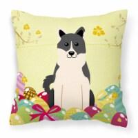Easter Eggs Russo-European Laika Spitz Fabric Decorative Pillow - 18Hx18W