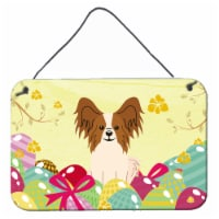 Easter Eggs Papillon Red White Wall or Door Hanging Prints