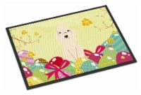 Easter Eggs Bedlington Terrier Sandy Indoor or Outdoor Mat 24x36
