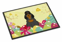 Easter Eggs Cocker Spaniel Black Tan Indoor or Outdoor Mat 24x36