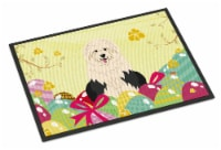 Easter Eggs Old English Sheepdog Indoor or Outdoor Mat 24x36