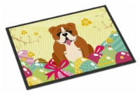 Easter Eggs English Bulldog Red White Indoor or Outdoor Mat 24x36 - 24Hx36W