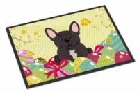 Easter Eggs French Bulldog Brindle Indoor or Outdoor Mat 18x27