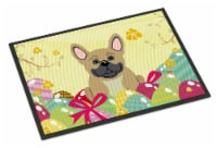 Easter Eggs French Bulldog Cream Indoor or Outdoor Mat 18x27